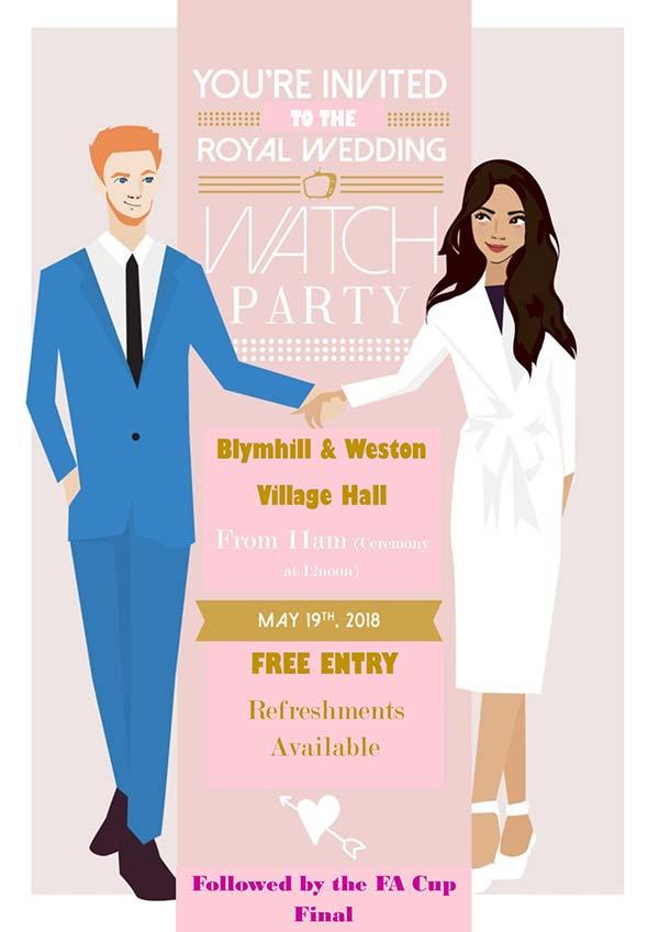 Royal Wedding Watch.Royal Wedding Watch Party Blymhill Weston Under Lizard Village
